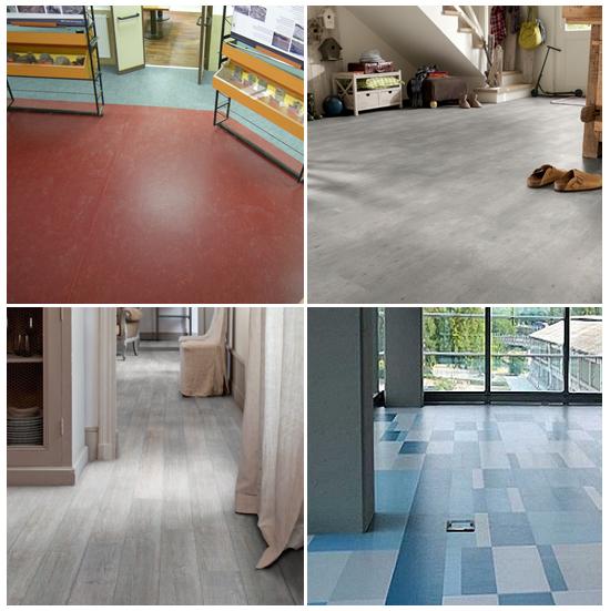 Alcuni lavori in pavimentazione in Linoleum, PVC, gomma e derivati