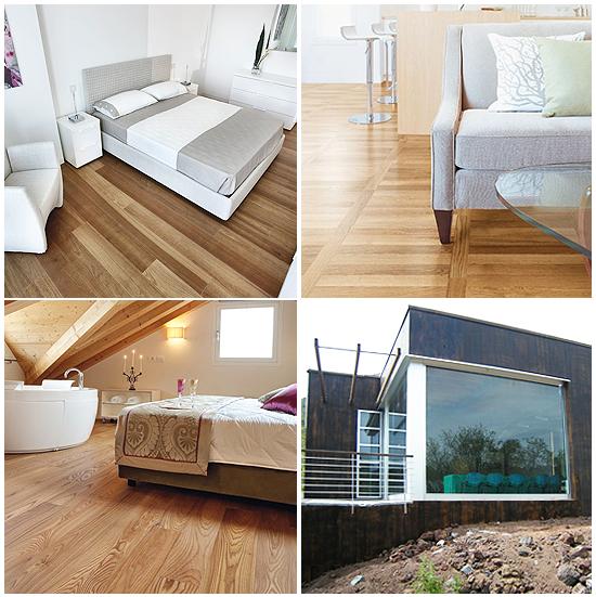 Alcuni lavori di Parquet e Superfici in legno da pavimento e rivestimento per interni ed esterni