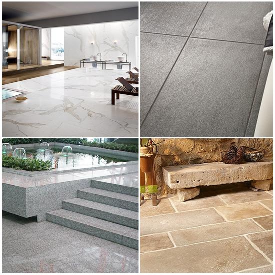 Alcuni lavori di superfici in marmo, pietra, granito e ricomposti