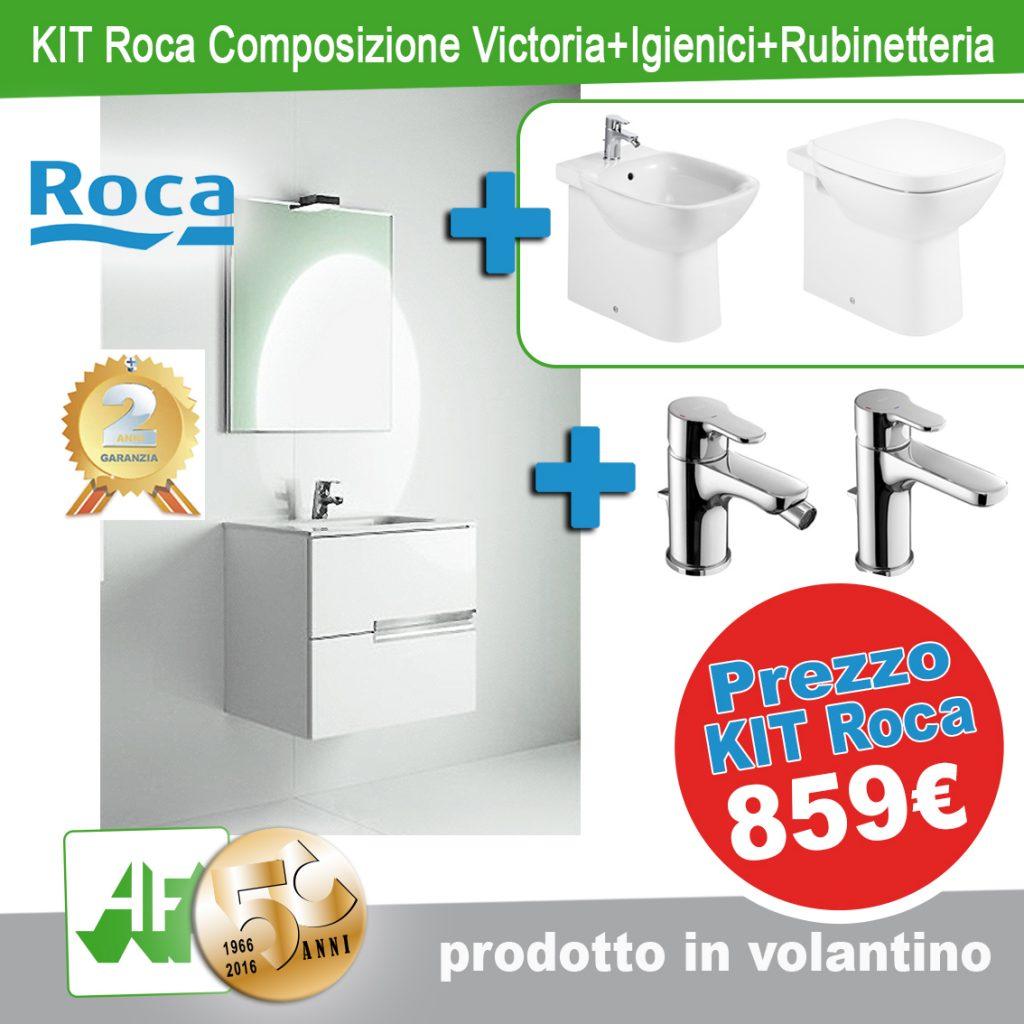 kit ROCA - MOBILE E SPECCHIO + SET SANITARI + SET RUBINETTERIA