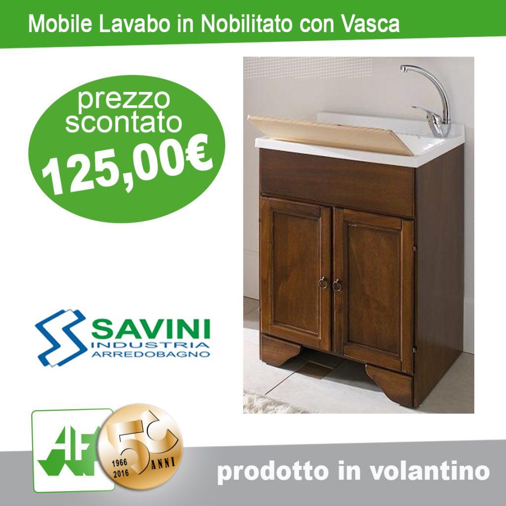 Mobile lavabo in nobilitato con vasca by SAVINI